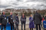 The Boat Race 2012: Two gentlemen from BBC Sport (could anyone please help with names?), umpires John Garret and Richard Phelps, and BBC commentator Clare Balding, before the toss of the coin..     on 07 April 2012 at 12:12, image #31