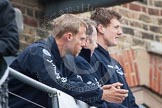 The Boat Race 2012: Setting the scene for the 2012 Boat Race: Oxfords six seat Dr Hanno Wienhausen, left, and 5 seat and OUBC president, Karl Hudspith, on the right..     on 07 April 2012 at 12:15, image #34