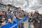 The Boat Race 2012: Setting the scene for the 2012 Boat Race: Putney Embankment before the toss of the coin, with the Putney boat houses on the left..     on 07 April 2012 at 12:20, image #42