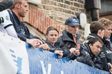 The Boat Race 2012: Before the 2012 Boat Race: Dr Hanno Wienhausen, 6 seat in the Oxford Blue Boat, Zoe de Toledo, cox in the Blue Boat, Sean Bowden, Oxford chief coach, and Oscar Zorilla, cox..     on 07 April 2012 at 12:21, image #43