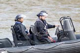 The Boat Race 2012: Setting the scene for the 2012 Boat Race: Officers of the London Metropolitan Police Marine Policing Unit (MPU) patrolling the Thames..     on 07 April 2012 at 12:40, image #56