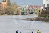 The Boat Race 2012: Setting the scene for the 2012 Boat Race: On the left the Harrods Repository, then Hammersmith Bridge, and Fulham FC Stadium on the right - all landmarks for the Boat Race..     on 07 April 2012 at 12:41, image #57