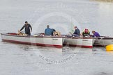 The Boat Race 2012: Setting the scene for the 2012 Boat Race: Thames launches getting prepared to be part of the flotilla of boats following the Boat Race..     on 07 April 2012 at 12:46, image #58