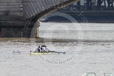 The Boat Race 2012: Adaptive Race: The Adaptive Four, just before the start from the Surrey station. Cox Lily van den Broecke, bow Pamela Relph, two Naomi Riches, three David Smith, and stroke James Roe..     on 07 April 2012 at 12:47, image #59