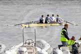 The Boat Race 2012: Adaptive Race: The Start Four, cox Henry Fieldman, bow Olivia Marshall, two Will King, three Ben Jackson, and stroke Catie Sharrod..     on 07 April 2012 at 12:48, image #64