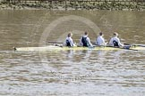 The Boat Race 2012: Adaptive Race: The Start Four, cox Henry Fieldman, bow Olivia Marshall, two Will King, three Ben Jackson, and stroke Catie Sharrod..     on 07 April 2012 at 12:48, image #66