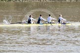The Boat Race 2012: Adaptive Race: The Start Four, cox Henry Fieldman, bow Olivia Marshall, two Will King, three Ben Jackson, and stroke Catie Sharrod..     on 07 April 2012 at 12:48, image #67