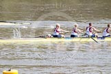 The Boat Race 2012: The Adaptive Race: The Adaptive four, cox Lily van den Broecke, bow Pamela Relph, two Naomi Riches, and three David Smith..     on 07 April 2012 at 12:48, image #69