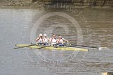 The Boat Race 2012: The Adaptive Race: The Adaptive four, cox Lily van den Broecke, bow Pamela Relph, two Naomi Riches, three David Smith, and stroke James Roe..     on 07 April 2012 at 12:49, image #91