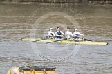 The Boat Race 2012: The Adaptive Race: The Start Four, cox Henry Fieldman, bow Olivia Marshall, two Will King, three Ben Jackson, and stroke Catie Sharrod..     on 07 April 2012 at 12:49, image #92