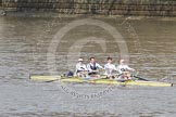The Boat Race 2012: The Adaptive Race: The Start Four, cox Henry Fieldman, bow Olivia Marshall, two Will King, three Ben Jackson, and stroke Catie Sharrod..     on 07 April 2012 at 12:49, image #93