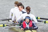 The Boat Race 2012: After the Adaptive Race: The Start Four, cox Henry Fieldman, bow Olivia Marshall, two Will King, three Ben Jackson, and stroke Catie Sharrod..     on 07 April 2012 at 12:51, image #98