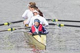 The Boat Race 2012: After the Adaptive Race: The Start Four, cox Henry Fieldman, bow Olivia Marshall, two Will King, three Ben Jackson, and stroke Catie Sharrod..     on 07 April 2012 at 12:51, image #99