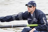 The Boat Race 2012: Roel Haen, stroke in the Oxford Blue Boat..     on 07 April 2012 at 13:33, image #144