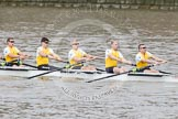 The Boat Race 2012: The Goldie/Isis Boat Race:  Tom Havorth, Hank Moore, Joel Jennings, Philip Williams, and stroke Felix Wood in Goldie, the Cambridge reserve boat..     on 07 April 2012 at 13:46, image #174