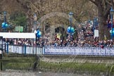 The Boat Race 2012: Putney Embankment, here seen towards Putney Bridge, with Putney Pier on the left, packed with spectators about to watch the start of the 2012 Boat Race..     on 07 April 2012 at 13:55, image #202