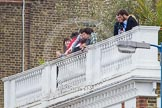 The Boat Race 2012: Spectators waiting for the start of the 2012 Boat Race on the roof of one of the houses on Surrey Embankment..     on 07 April 2012 at 13:55, image #203