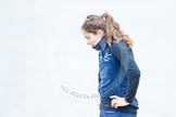 The Boat Race season 2013 - fixture OUWBC vs Molesey BC: OUWBC stroke Coralie Viollet-Djelassi.. Dorney Lake, Dorney, Windsor, Berkshire, United Kingdom, on 24 February 2013 at 10:55, image #14