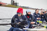 The Boat Race season 2013 - fixture OUWBC vs Molesey BC: OUWBC stroke Maxie Scheske, seven Anastasia Chitty, six Harriet Keane, five Amy Varnet, and four Joana Lee.. Dorney Lake, Dorney, Windsor, Berkshire, United Kingdom, on 24 February 2013 at 11:15, image #33