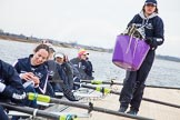 The Boat Race season 2013 - fixture OUWBC vs Molesey BC: OUWBC Harriet Keane, Amy Varney, Joanna Lee, Mary Foord Weston, Alice Carrington-Windo, Mariann Novak, and, on the right, cox Sophie Shawdon.. Dorney Lake, Dorney, Windsor, Berkshire, United Kingdom, on 24 February 2013 at 11:15, image #35
