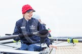 The Boat Race season 2013 - fixture OUWBC vs Molesey BC: The OUWBC Eight getting ready, in front stroke Maxie Scheske.. Dorney Lake, Dorney, Windsor, Berkshire, United Kingdom, on 24 February 2013 at 11:16, image #37