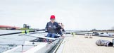 The Boat Race season 2013 - fixture OUWBC vs Molesey BC: The OUWBC Eight getting ready, in front stroke Maxie Scheske.. Dorney Lake, Dorney, Windsor, Berkshire, United Kingdom, on 24 February 2013 at 11:16, image #38