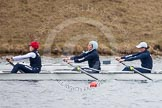 The Boat Race season 2013 - fixture OUWBC vs Molesey BC: OUWBC stroke Maxie Scheske, seven Anastasia Chitty and six Harriet Keane,. Dorney Lake, Dorney, Windsor, Berkshire, United Kingdom, on 24 February 2013 at 12:00, image #92