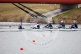 The Boat Race season 2013 - fixture OUWBC vs Molesey BC: OUWBC cox Sophie Shawdon, stroke Maxie Scheske, seven Anastasia Chitty, six Harriet Keane, five Amy Varney and five Amy Varney.. Dorney Lake, Dorney, Windsor, Berkshire, United Kingdom, on 24 February 2013 at 12:00, image #93