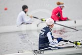 The Boat Race season 2013 - fixture OUWBC vs Molesey BC: OUWBC bow Mariann Novak.. Dorney Lake, Dorney, Windsor, Berkshire, United Kingdom, on 24 February 2013 at 12:02, image #97