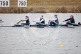 The Boat Race season 2013 - fixture OUWBC vs Molesey BC: OUWBC coxed four with stroke Coralie Viollet-Djelassi, Eleanor Darlington, Maria Mazza, and bow Caitlin Goss, cox is Sonya Milanova.. Dorney Lake, Dorney, Windsor, Berkshire, United Kingdom, on 24 February 2013 at 12:19, image #138