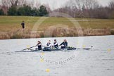 The Boat Race season 2013 - fixture OUWBC vs Molesey BC: OUWBC coxed four with stroke Coralie Viollet-Djelassi, Eleanor Darlington, Maria Mazza, and bow Caitlin Goss, cox is Sonya Milanova.. Dorney Lake, Dorney, Windsor, Berkshire, United Kingdom, on 24 February 2013 at 12:19, image #141
