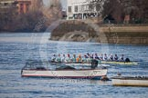 The Boat Race season 2013 - fixture CUBC vs Leander: The Goldie vs Imperial BC fixture.. River Thames Tideway between Putney Bridge and Mortlake, London SW15,  United Kingdom, on 02 March 2013 at 15:24, image #60