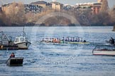 The Boat Race season 2013 - fixture CUBC vs Leander: The Goldie vs Imperial BC fixture.. River Thames Tideway between Putney Bridge and Mortlake, London SW15,  United Kingdom, on 02 March 2013 at 15:24, image #62
