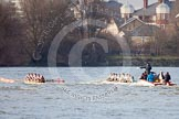 The Boat Race season 2013 - fixture CUBC vs Leander. River Thames Tideway between Putney Bridge and Mortlake, London SW15,  United Kingdom, on 02 March 2013 at 15:59, image #152