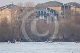 The Boat Race season 2013 - fixture CUBC vs Leander. River Thames Tideway between Putney Bridge and Mortlake, London SW15,  United Kingdom, on 02 March 2013 at 16:00, image #167