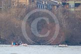 The Boat Race season 2013 - fixture CUBC vs Leander. River Thames Tideway between Putney Bridge and Mortlake, London SW15,  United Kingdom, on 02 March 2013 at 16:01, image #169
