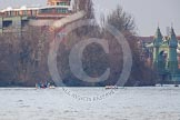 The Boat Race season 2013 - fixture CUBC vs Leander. River Thames Tideway between Putney Bridge and Mortlake, London SW15,  United Kingdom, on 02 March 2013 at 16:01, image #172