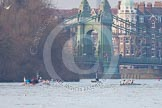 The Boat Race season 2013 - fixture CUBC vs Leander. River Thames Tideway between Putney Bridge and Mortlake, London SW15,  United Kingdom, on 02 March 2013 at 16:01, image #175