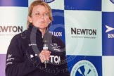 The Boat Race season 2013 - Crew Announcement and Weigh In: OUWBC Head Coach Christine talking about the Women's Boat Race.. BNY Mellon Centre, London EC4V 4LA,  United Kingdom, on 04 March 2013 at 10:24, image #41
