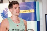 The Boat Race season 2013 - Crew Announcement and Weigh In: The crew for the men's 2013 Boat Race: In the Cambridge seven seat Alexander Scharp – 92.8kg.. BNY Mellon Centre, London EC4V 4LA,  United Kingdom, on 04 March 2013 at 10:30, image #60