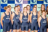 The Boat Race season 2013 - Crew Announcement and Weigh In: The OUWBC Blue Boat squad for the Women's Boat Race 2013.. BNY Mellon Centre, London EC4V 4LA,  United Kingdom, on 04 March 2013 at 10:38, image #78