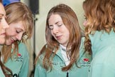 The Boat Race season 2013 - Crew Announcement and Weigh In: CUWBC's Jessica Denman, Claire Watkins, and Holly Game.. BNY Mellon Centre, London EC4V 4LA,  United Kingdom, on 04 March 2013 at 11:02, image #101