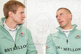 The Boat Race season 2013 - Crew Announcement and Weigh In: CUBC's bow Grant Wilson and stroke Niles Garratt.. BNY Mellon Centre, London EC4V 4LA,  United Kingdom, on 04 March 2013 at 11:10, image #112