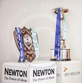 The Boat Race season 2013 - Crew Announcement and Weigh In: The trophies - on the left for the Newton Women's Boat Race, on the right for the men's BNY Mellon Boat Race.. BNY Mellon Centre, London EC4V 4LA,  United Kingdom, on 04 March 2013 at 11:18, image #117
