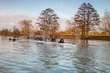 The Boat Race season 2013 - OUWBC training: The OUWBC Blue Boat on the Upper Thames near Wallingford.. Fleming Boathouse, Wallingford, Oxfordshire, United Kingdom, on 13 March 2013 at 16:51, image #30