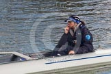 The Boat Race season 2013 - OUWBC training: In the OUWBC reserve boat  Osiris cox Sophie Shawdon.. Fleming Boathouse, Wallingford, Oxfordshire, United Kingdom, on 13 March 2013 at 16:53, image #34