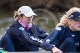 The Boat Race season 2013 - OUWBC training: In the OUWBC Blue Boat 4 seat Jo Lee and 5 seat Amy Varney.. River Thames, Wallingford, Oxfordshire, United Kingdom, on 13 March 2013 at 17:02, image #42