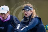 The Boat Race season 2013 - OUWBC training: In the OUWBC Blue Boat 4 seat Jo Lee and 5 seat Mary Foord-Weston.. River Thames, Wallingford, Oxfordshire, United Kingdom, on 13 March 2013 at 17:03, image #53