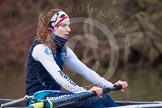 The Boat Race season 2013 - OUWBC training: At the bow of Osiris, the OUWBC reserve boat, Coralie Viollet-Djelassi.. River Thames, Wallingford, Oxfordshire, United Kingdom, on 13 March 2013 at 17:07, image #79