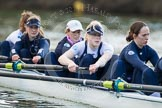 The Boat Race season 2013 - OUWBC training: In the OUWBC Blue Boat 2 seat Alice Carrington-Windo, Mary Foord-Weston, Jo Lee, Amy Varney, and 5 seat Harriet Keane.. River Thames, Wallingford, Oxfordshire, United Kingdom, on 13 March 2013 at 17:08, image #87